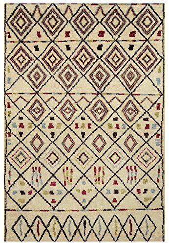Teppich Wohnzimmer Orient Carpet Persisches Design AMIRA MOROCCAN RUG 100 Wolle 120x170 Cm Rechteckig Mehrfarbig