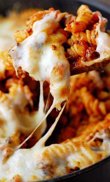 Triple Meat Pizza Casserole