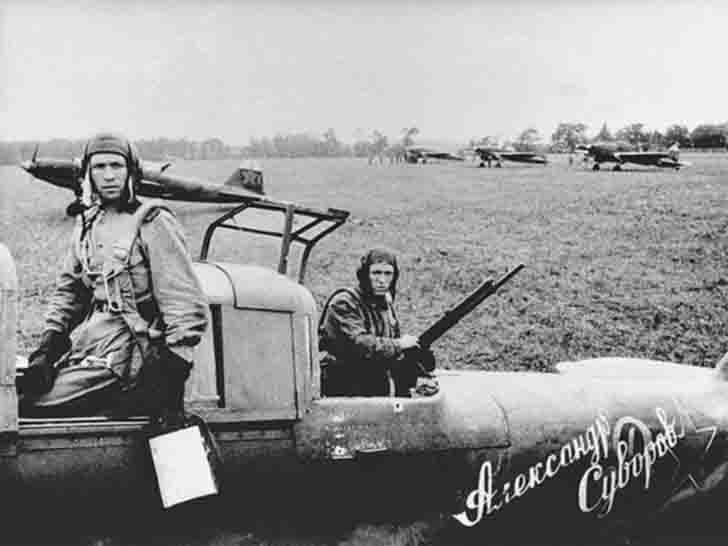 "waffenss1972: ""The crew of the IL-2 ""Alexander Suvorov"" attack aircraft """