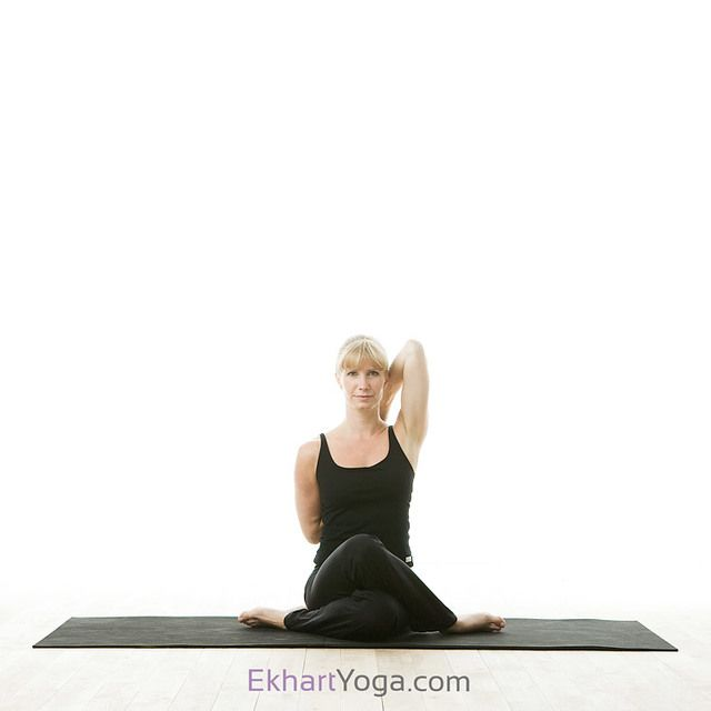 Yoga pose: Cow Face Pose/Gomukhasana