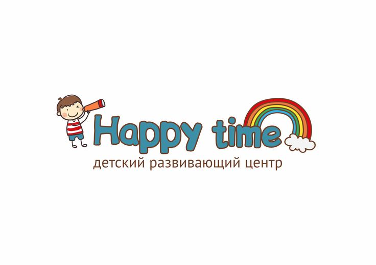 "Логотип для детского центра развития ""Happy time"". Пермь / Logo for a children's centre for the development of ""Happy time"". Perm"