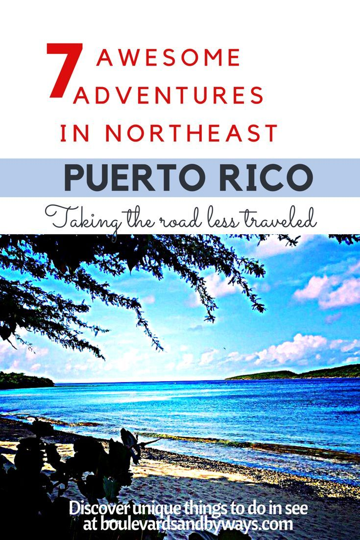 12 awesome things to do when visiting Puerto Rico. http://boulevardsandbyways.com/blog/12-awesome-adventures-in-northeast-puerto-rico/ #fajardo, #luquillo #pr #puertorico #thingstodopr #thongstodopuertorico #discoveringpuertorico #puertoricotourism #caribbeanescapes