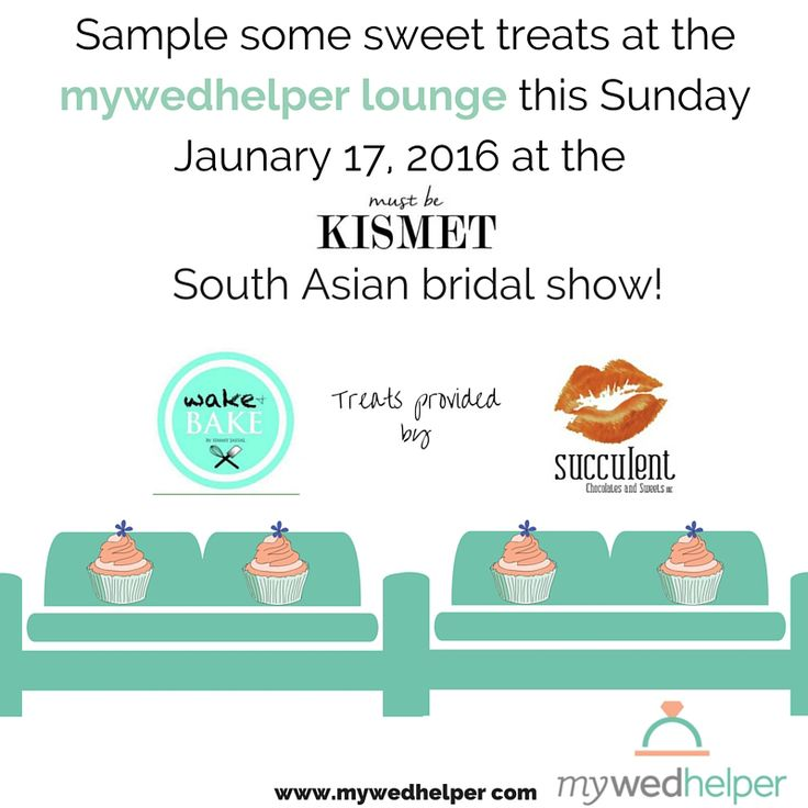 The mywedhelper team is excited to be apart of the Must Be Kismet bridal show happening tomorrow Sunday January 17, 2016 at the International Centre in Mississauga! Come meet our team and enjoy treats at the mywedhelper lounge