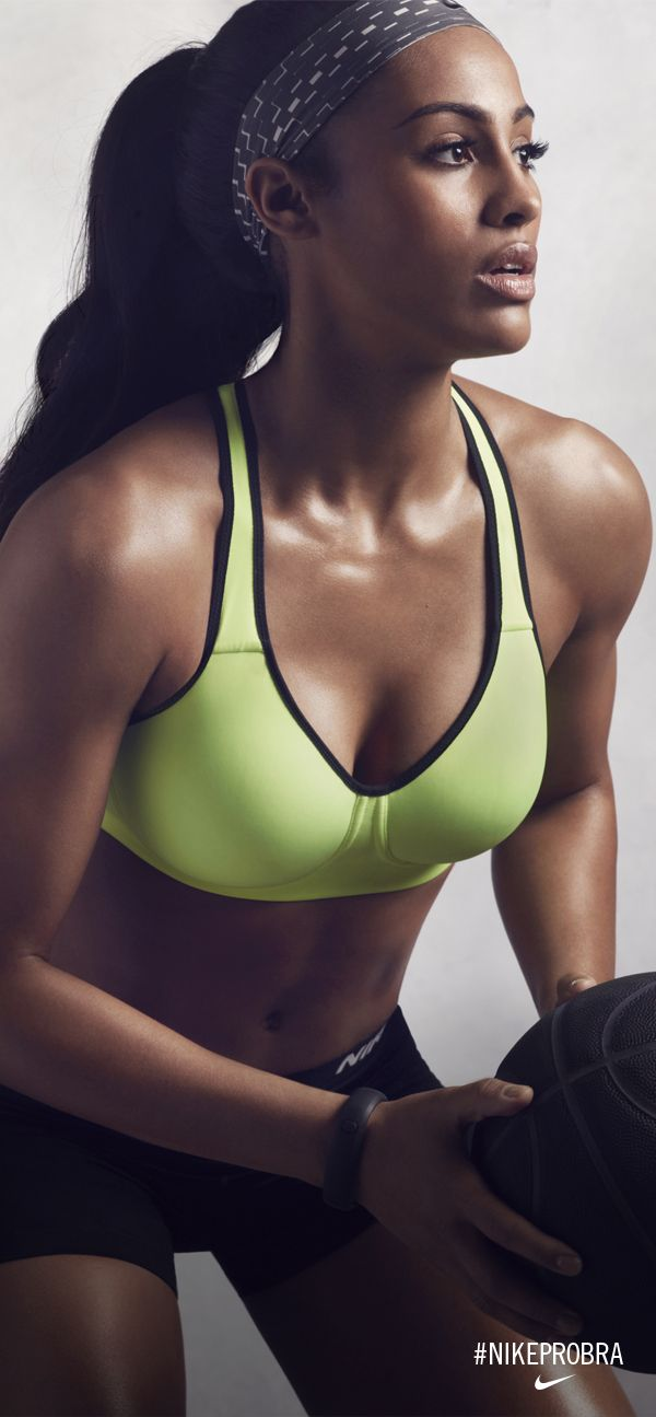 Turn up the intensity. Pro Basketball player Skylar Diggins is unstoppable in the Nike Pro Rival. #NikeProBra