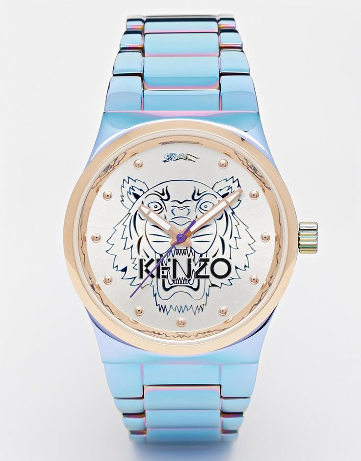 Image 1 ofKenzo Rainbow Small Tiger Head Watch