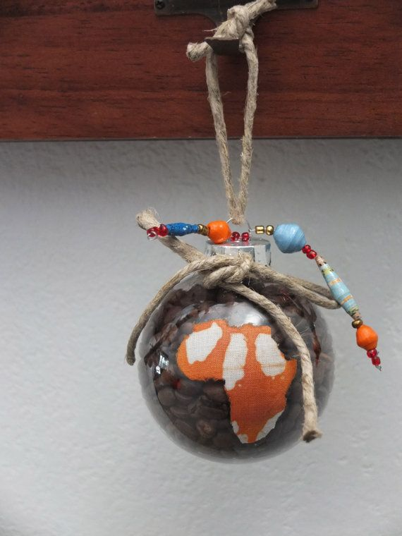 Africa Christmas Ornament - Coffee Filled - Adoption Fundraiser  by LaneAdoptionFund $20.00