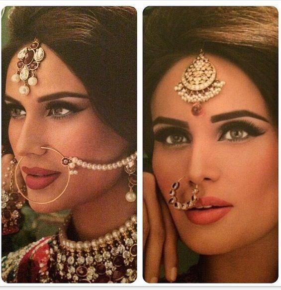 Beautiful tikka and naathphul, and makeup !!