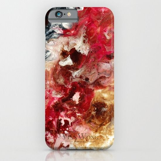 Marble red and onyx black abstract phone case design for iPhone 6, iPhone 5S/C, iPod Touch, Galaxy s6/s5/s4 | International Shipping | Full collection www.vinnwong.com | Click to Shop or Pin it For Later!