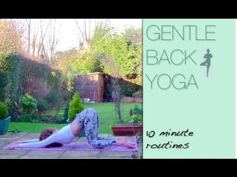 Yoga for your back! This gentle routine will get you feeling relaxed and flexible :)