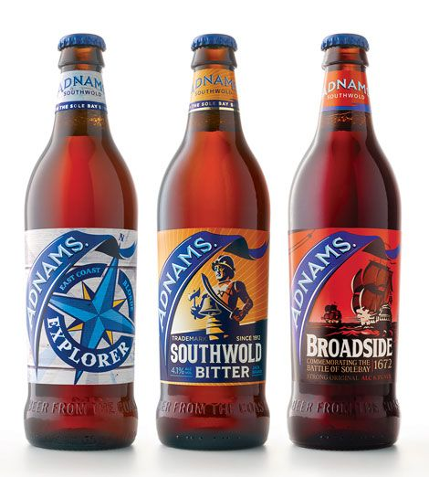 Adnams Beer Bottles,  Adnams Brewery, Southwold, Suffolk.