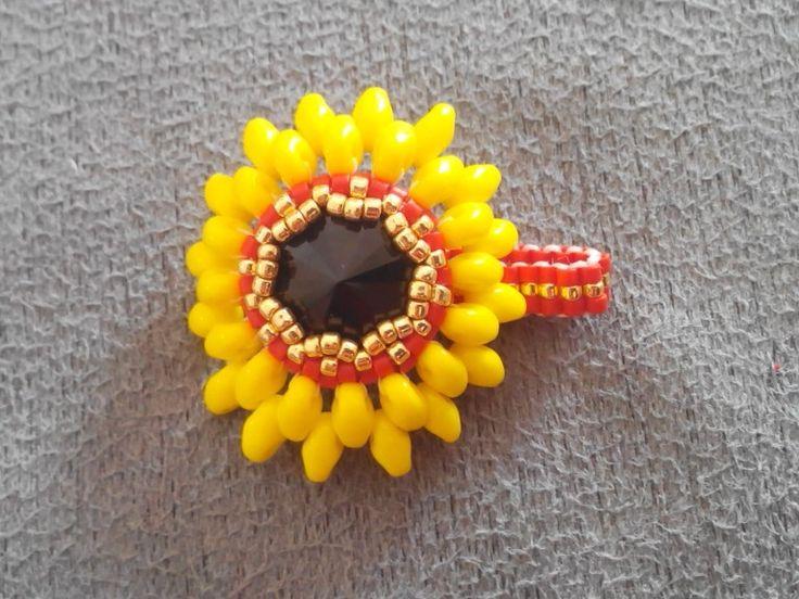 My lovely sun flower ring