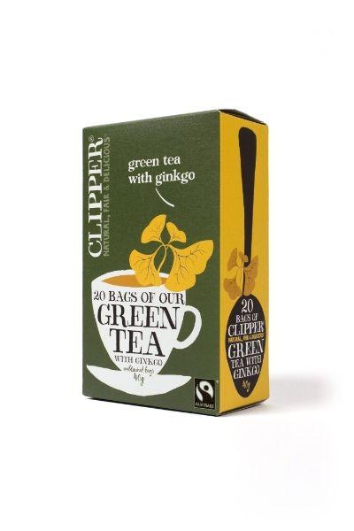 Vihreä tee, ginkgo-mustaherukka