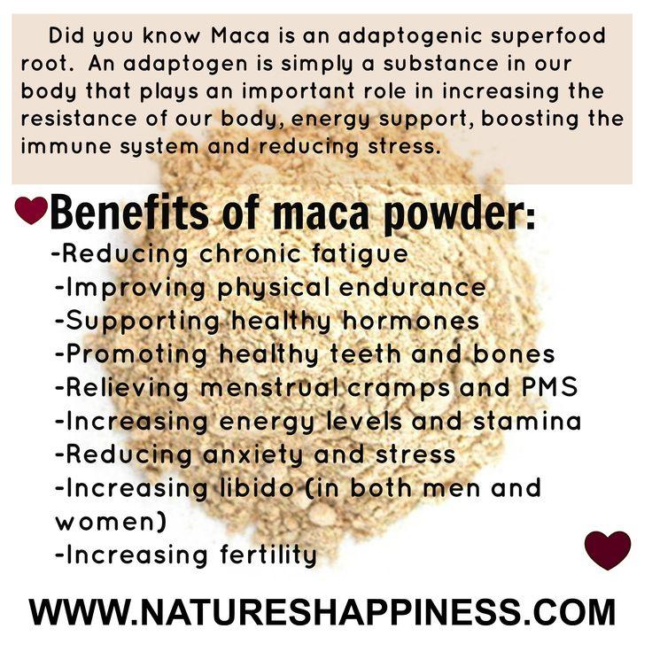 Maca Powder <3 natureshappiness.com I totally love this stuff..AMAZING!!!