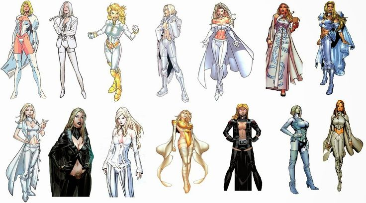 The Comic Book Hero: Emma Frost White Queen/Black Queen Costume history