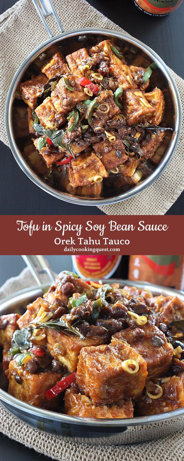 Orek Tahu Tauco – Tofu in Spicy Soy Bean Sauce