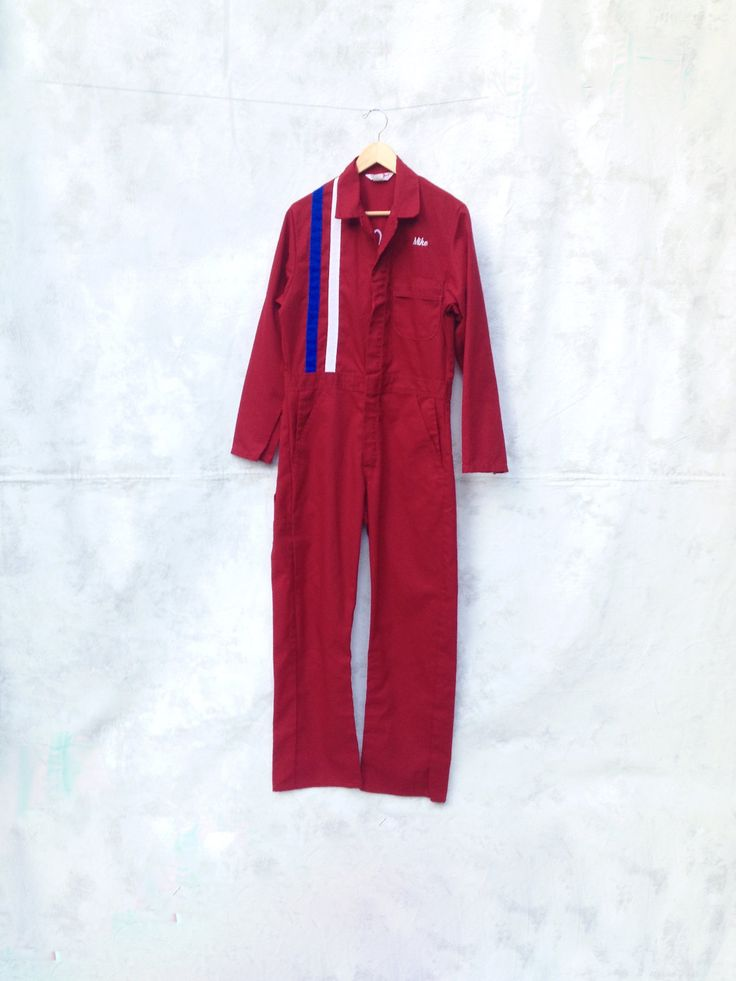 Mechanic Coveralls Jumpsuit Boiler Suit Rockabilly by Chicaluna on Etsy
