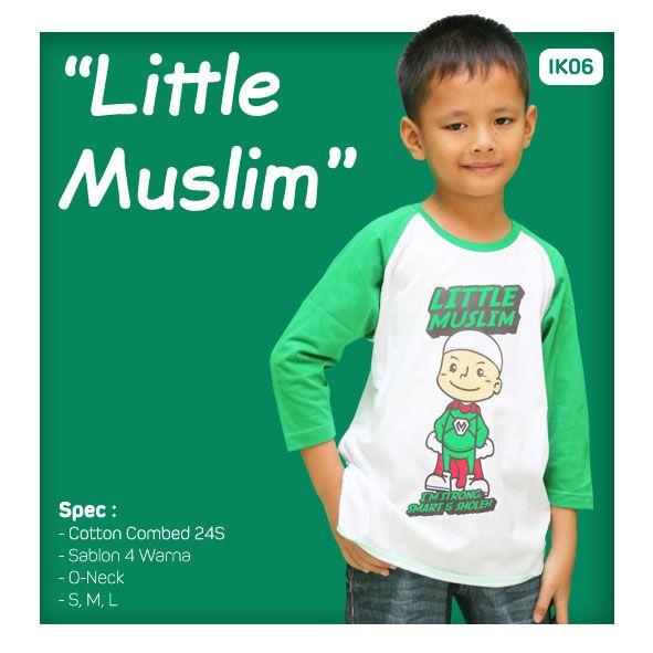Kaos Anak Muslim Bilhikma IK06 Tema : Little Muslim