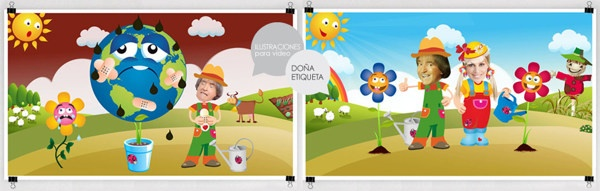 Ilustraciones Infantiles PANAM by SUMMO Diseño Gráfico y Comunicación, via Behance