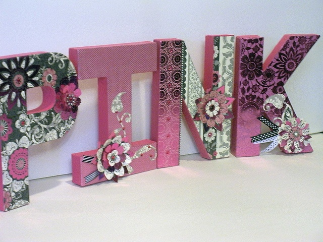 Paper Mache Letters  By: AzilorchidsCrafts Ideas, Dorm Room, Book Worth, Letters Crafts, Altered Letters, Baby Room, Do, Altered Art, Crafty Ideas