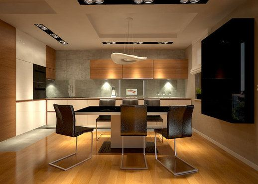 #projekt #wnetrz #interior #kuchnia #kitchen #modern Wilanów; Digital Pigment http://www.domowy.pl/projekty-wnetrz/kuchnia/wilanow-kuchnia.html