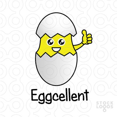 """The egg yellow is giving a thumbs up to show that the egg is excellent,  """"Eggcellent"""" !!"""
