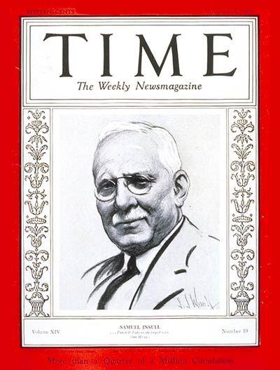 Samuel Insull -- Nov. 4, 1929