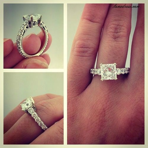 Gorgeous!!!! But must not be smaller then a 2.5 carat ;)