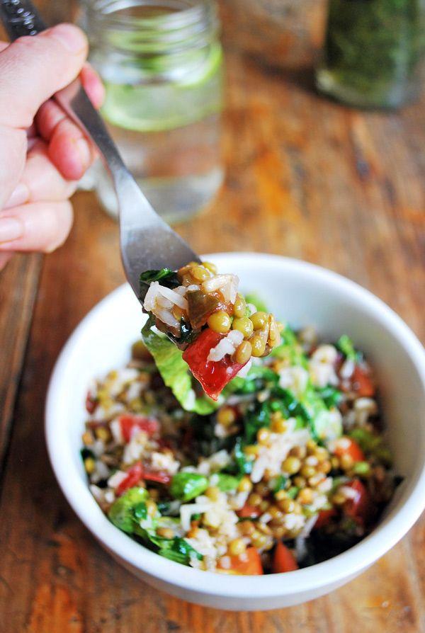 Ensalada de arroz y lentejas, fácil de hacer y deliciosa ¡cada bocado es perfecto!