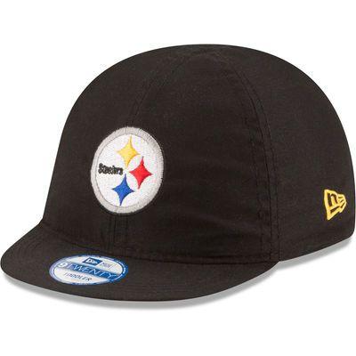 Infant New Era Black/White Pittsburgh Steelers Top Flip 9TWENTY Reversible Adjustable Hat