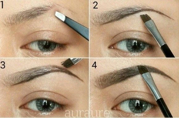 How to fill in brows.  Diagram by Auraure.