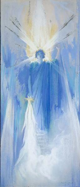 BARON ARILD ROSENKRANTZ (1870-1964) -  Angel with sword of fire   Ca. 1935