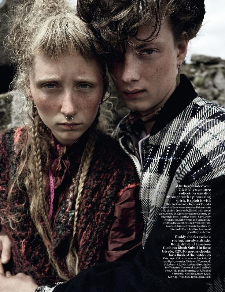 Run Wild (British Vogue)  Mario Testino - Photographer  Lucinda Chambers - Fashion Editor/Stylist  Sam McKnight - Hair Stylist  Val Garland - Makeup Artist  Andrew Tomlinson - Set Designer  Lorraine Griffin - Manicurist  Elfie Reigate - Model  Nora Attal - Model  Willem Het Hart - Model