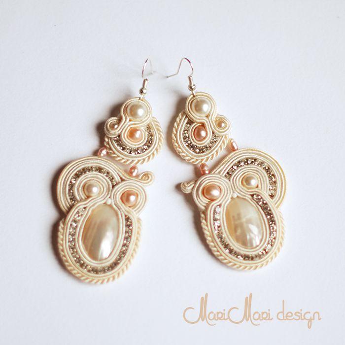 #brincos #earrings #bridal #pérolas #pearls #soutache #white #branco