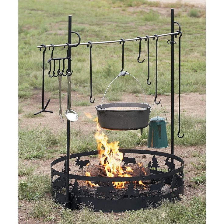 cast iron cooking sets | ... cook equipment save big guide gear campfire cook set images videos