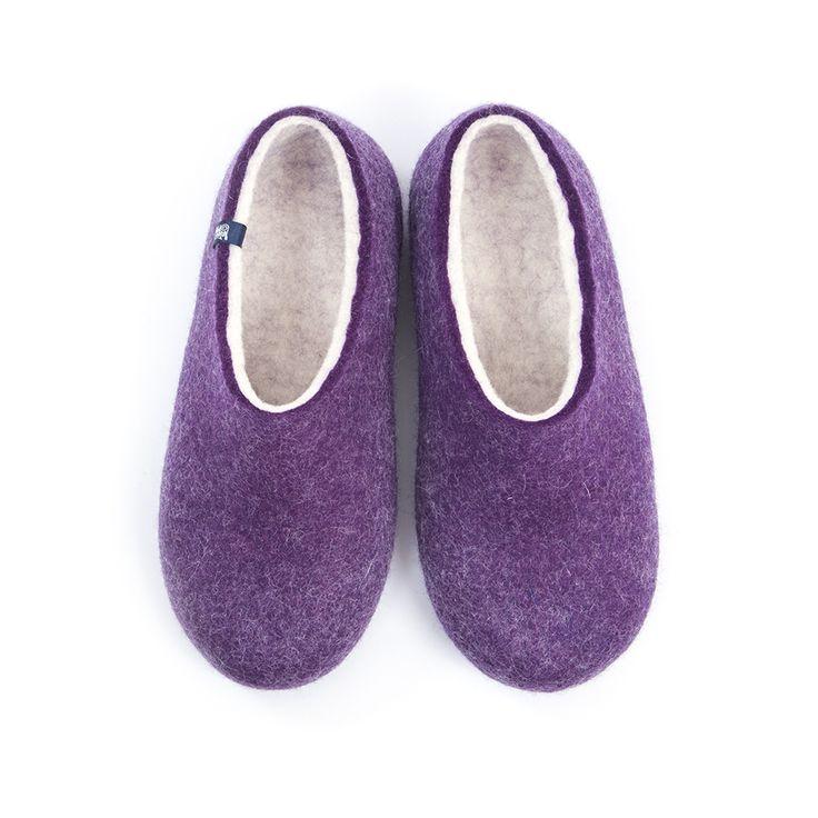 wooppers_BLISS_purple_felted woolen slippers