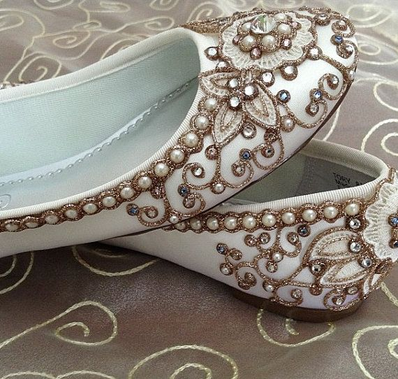 Cherry Blossom Bridal Ballet Flats Wedding Shoes - Any Size - Pick your own shoe color and crystal color