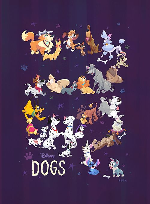 """Disney Dogs"" by Bill Robinson"