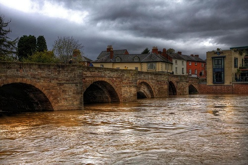 Bridge over the River Wye, Hereford, England