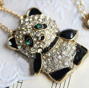 Adorable panda necklace