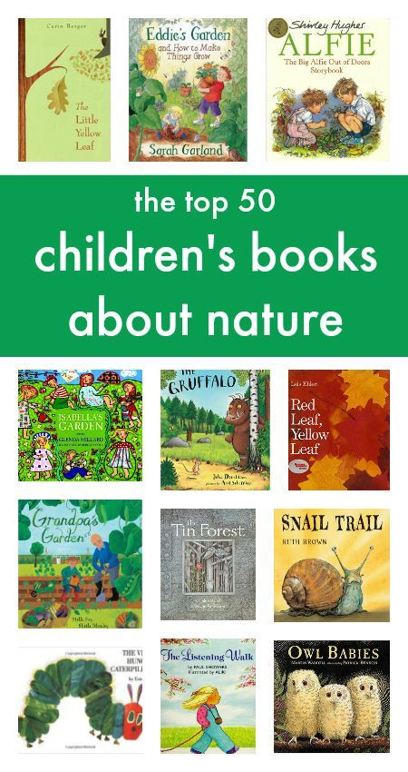 Top 50 children's books about nature :: nature study for kids.  Dated 2013, You may want to also search out more recent books too.