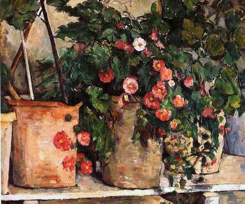 Paul Cézanne-Nature morte avec des pétunias (1885)