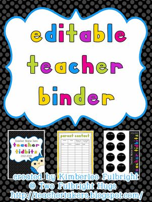 We found this classroom binder on the internet. It is free. Just click on the image and you will get into a website where you can see the source.: Iteach 5Th, Teacher Stuff, Teacher Binder, School Stuff, Editable Teacher, School Ideas, Classroom Ideas, Classroom Organization, Teachers