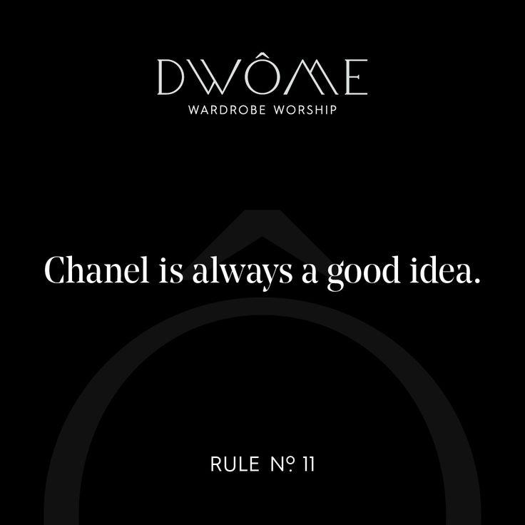 Wardrobe Worship: Chanel is always a good idea.