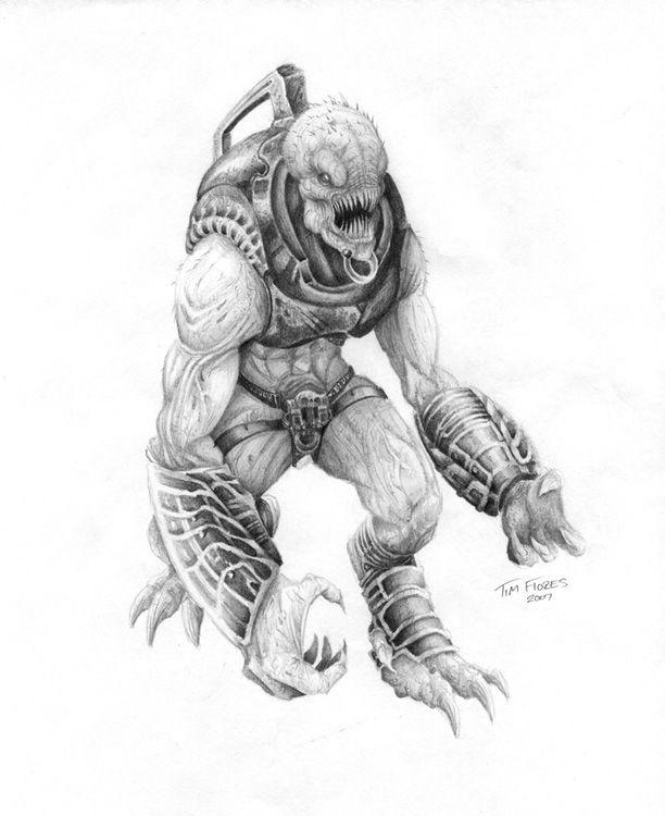 Gears Of War Wretch 2 By Blkbullet23 Bocetos Y Guerreros