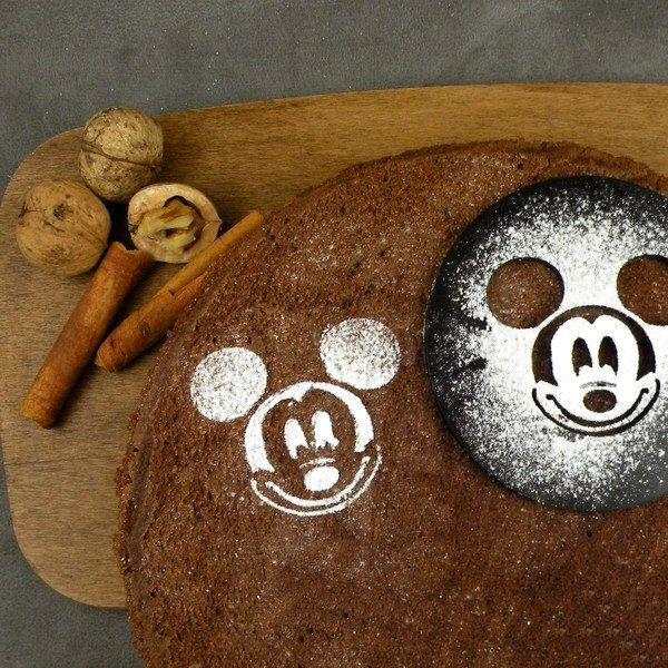 Mickey Mouse  - coffee stencil, cake stencil, cupcake stencil by SunflowerForHome on Etsy https://www.etsy.com/listing/210178112/mickey-mouse-coffee-stencil-cake-stencil