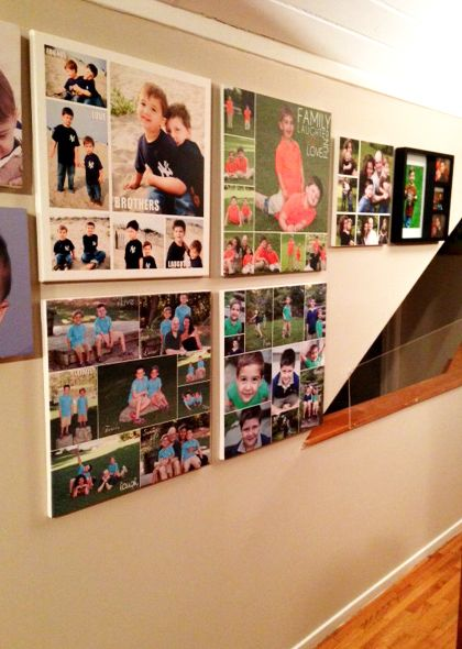 canvas word art gallery wall art ideas - Picture Collages