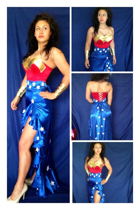 Wonder Woman Gown Costume Comic Con Halloween Sizes by delphina123