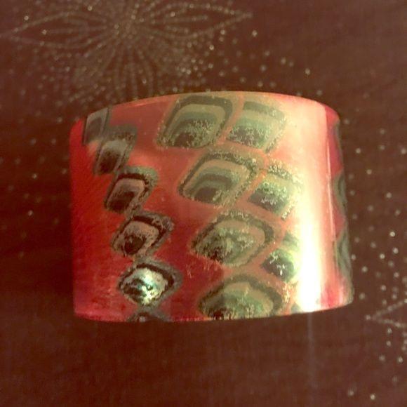 DESIGUAL BANGLE BRACELET DESIGUAL RED BANGLE  BRACELET Desigual Jewelry Bracelets