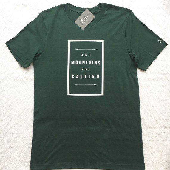 The mountains are calling UNISEX slogan Tshirt by JunkboxCouture