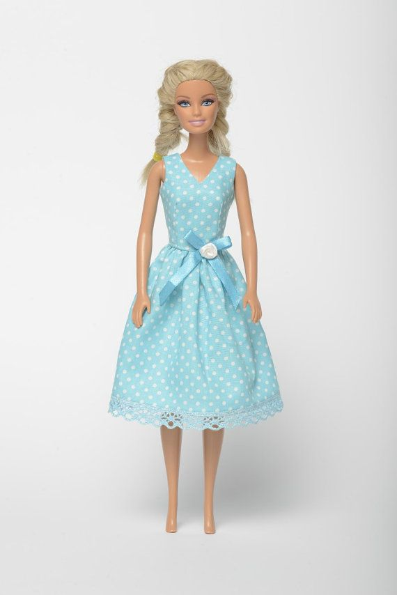 "Handmade Barbie doll clothes, Barbie dresses, Barbie outfit - ""Sea breeze"" Barbie dress  (263)"